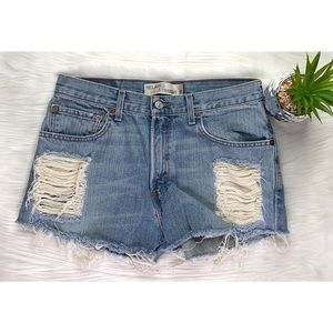 Levi's Womens Jean Cutoff Shorts 559 Straight Re